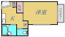 グリンデール笠原[2階]の間取り