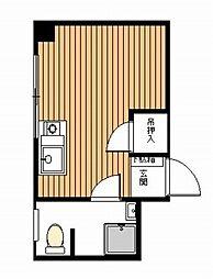 パールハイツ幡ヶ谷 幡ヶ谷6分 生活便利なオートロック付分譲[8階]の間取り