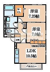リビングタウン南花田[2階]の間取り