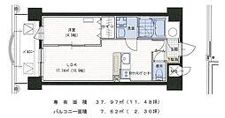 フラワーズマンション 2階1LDKの間取り