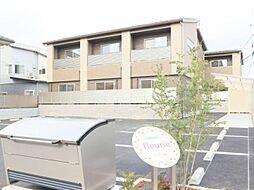 岡山県岡山市北区中撫川の賃貸アパートの外観