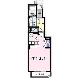 サン・フレイムYABEⅡ B[1階]の間取り