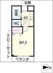 スカイハイツ岩室[2階]の間取り