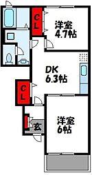 ミルデハイム A棟[1階]の間取り