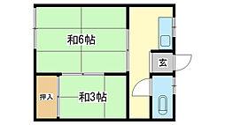 山下荘[1-1号室]の間取り