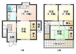 [一戸建] 兵庫県明石市東山町 の賃貸【/】の間取り