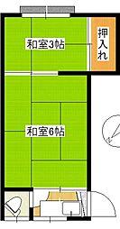 田高荘[202号室]の間取り