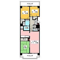 シャルマンコーポ大樹寺603号室[6階]の間取り