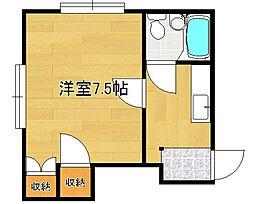 シェ・ガロンヌ近江B[2階]の間取り