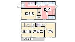 [一戸建] 兵庫県加古川市別府町新野辺北町2丁目 の賃貸【/】の間取り