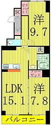 HOUSE・北柏1号棟〜ハウスキタカシワ1ゴウトウ〜[8階]の間取り