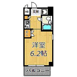 デ・リード塚本駅前[207号室]の間取り