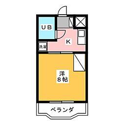 グランパレI[3階]の間取り