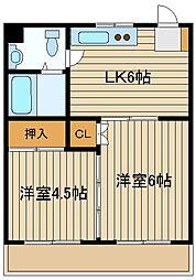 第2グリーンマンション[2階]の間取り