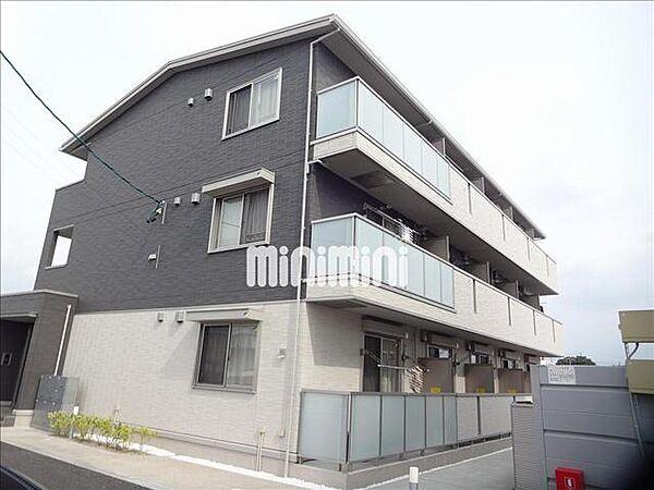 愛知県岡崎市舳越町字朝倉の賃貸アパートの外観