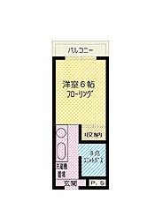 東京都東大和市桜が丘4丁目の賃貸マンションの間取り