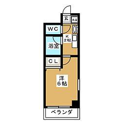 バインオーク イレブン[6階]の間取り