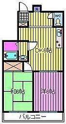 ホワイトキャッスル[3階]の間取り