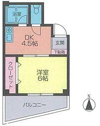 中板コーポ田中[2階]の間取り