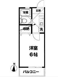 ラベンダー湘南III[106号室]の間取り