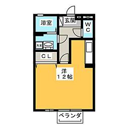 コートスバルC[2階]の間取り