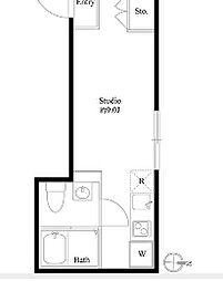 東京メトロ丸ノ内線 本郷三丁目駅 徒歩3分の賃貸マンション 3階ワンルームの間取り