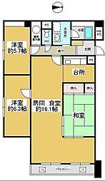 東京都新宿区西新宿4丁目の賃貸マンションの間取り