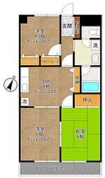 元屋敷壱番館[1階]の間取り