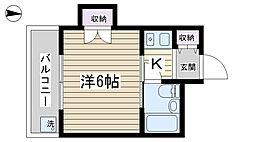 フジマツ第5ビル[203号室]の間取り