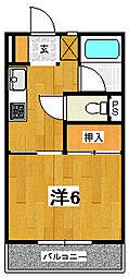 ロッジング金沢[B105号室]の間取り