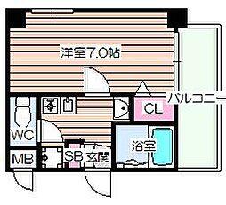 エスリード福島第3[5階]の間取り