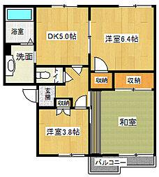 サンモールフラット[2階]の間取り