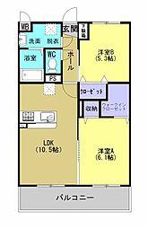 HIDAMARI[3階]の間取り