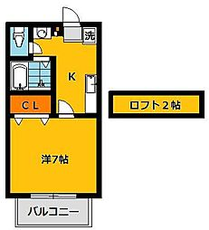 セレーナ21[105号室]の間取り
