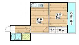 米田マンション[3階]の間取り