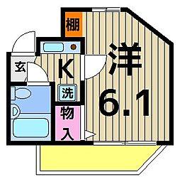 東京都足立区南花畑4丁目の賃貸マンションの間取り