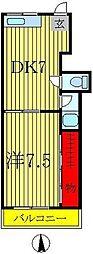 金町センターハイツ[2階]の間取り