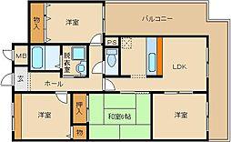 タウンコート咲佳映(サカエ)[701号室]の間取り
