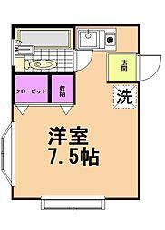 プランドール弐番館A棟[1階]の間取り