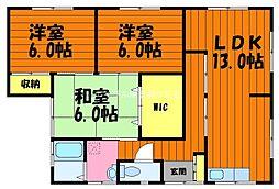 [一戸建] 岡山県倉敷市白楽町 の賃貸【/】の間取り