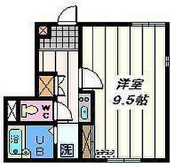 東京都墨田区墨田4丁目の賃貸アパートの間取り
