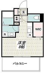 JR横浜線 十日市場駅 徒歩7分の賃貸マンション 4階ワンルームの間取り