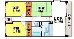 フォーレスト弐番館[4階]の間取り
