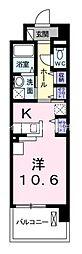 JR宇野線 備前西市駅 徒歩33分の賃貸マンション 5階1Kの間取り