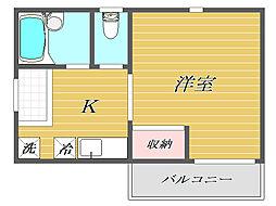 東京都北区赤羽台3丁目の賃貸アパートの間取り