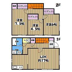 [一戸建] 東京都国分寺市新町2丁目 の賃貸【/】の間取り