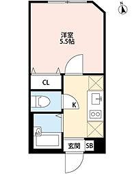 パークFLATS桜川[1階]の間取り
