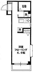 東京都江東区三好3丁目の賃貸マンションの間取り