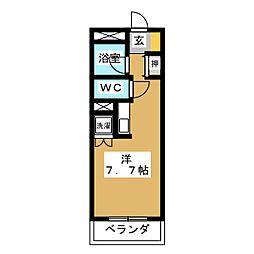 愛知県名古屋市中村区大宮町1の賃貸マンションの間取り