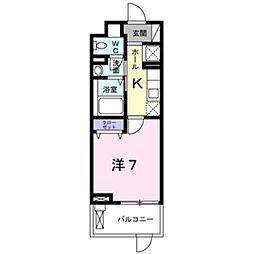 JR東海道・山陽本線 吹田駅 徒歩6分の賃貸マンション 2階1Kの間取り